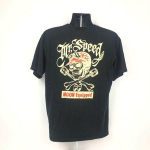 Mens Moon Equipped Moon Eyes Graphic Tee Black L